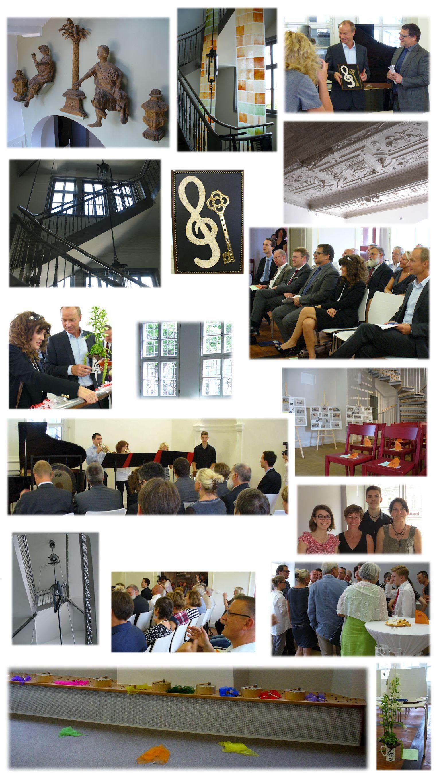 """Collage zur Eroeffnung """"Haus zum Palmbaum"""" 2014"""