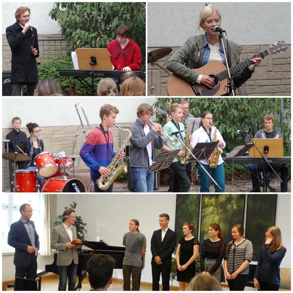 Rock, Pop, Jazz im Hof und Verabschiedung von Musikschülern